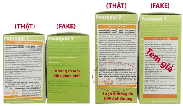 Cách phân biệt bình sữa Comotomo thật giả (4)