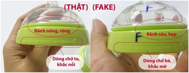 Cách phân biệt bình sữa Comotomo thật giả