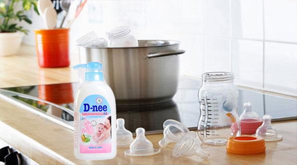 cách sử dụng nước rửa bình Dnee