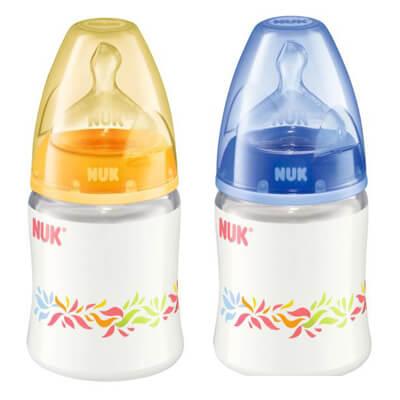 Bình sữa Nuk nhựa cổ rộng