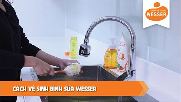 Nước rửa bình sữa Wesser Hàn Quốc