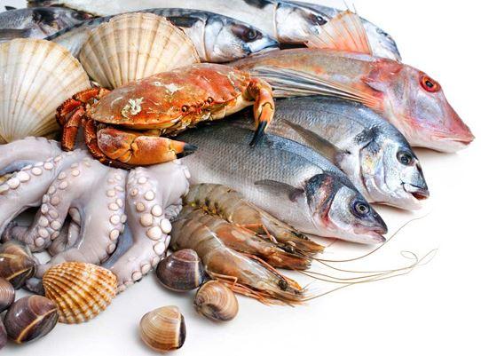 Các loại hải sản chứa rất nhiều canxi.