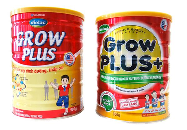 So sánh sữa Vinamilk Grow Plus và sữa Nutifood Grow Plus+