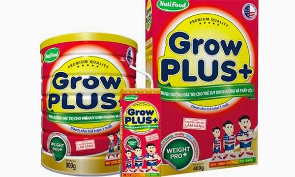 Sữa Grow Plus có mấy loại?