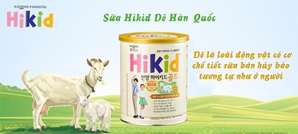 Sữa Dê Hikid cho bé dị ứng với sữa bò