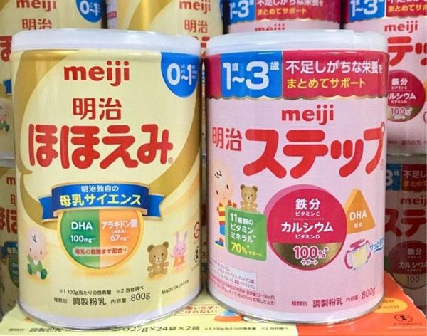 Hướng dẫn cách pha sữa Meiji cho bé