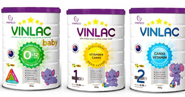 Sữa Vinlac hiện có 3 loại phù hợp với từng giai đoạn phát triển của trẻ nhỏ