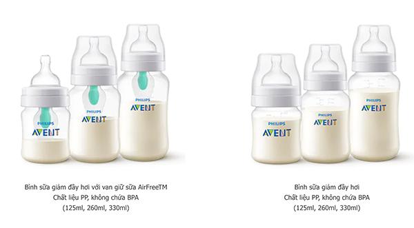 Philips Avent có thiết kế van giữ sữa AirfreeTM chống đầy hơi hiệu quả