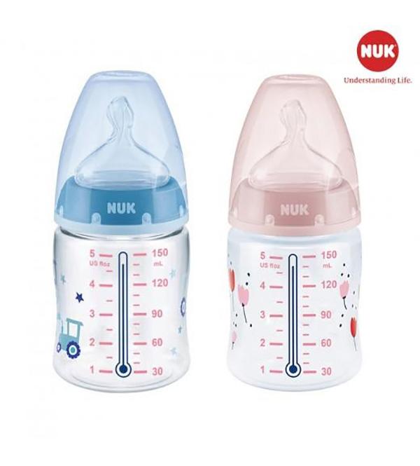 Bình sữa NUK với tính năng cảnh báo nhiệt độ ở thân bình vô cùng tiện lợi