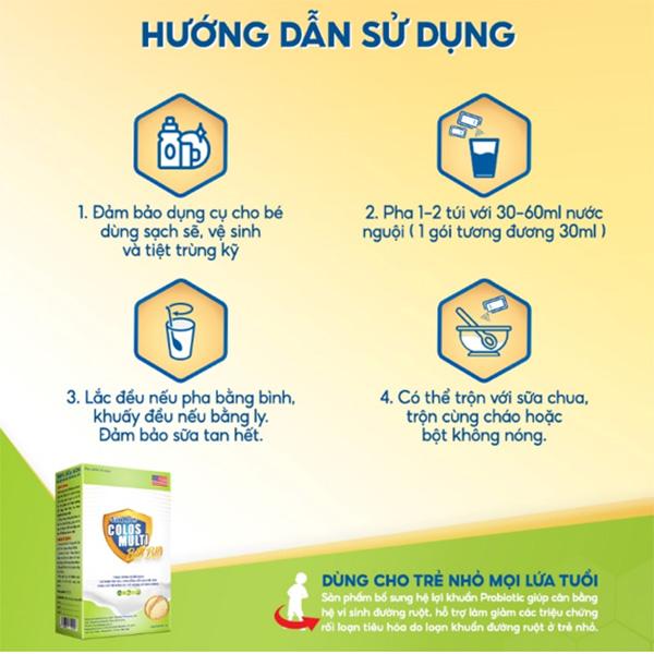 Hướng dẫn cách pha sữa non Colosmulti Bio Bio