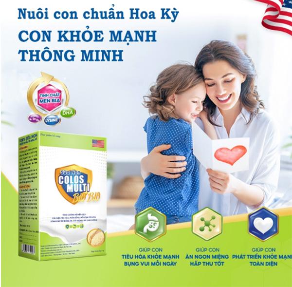 Sữa bib Colosmulti Bio Bio bổ sung dưỡng chất quan trọng nhất trong sự hình thành và phát triển cả về thể chất lẫn trí tuệ cho trẻ em.